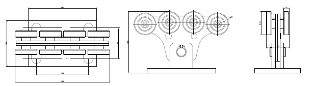 Опорный ролик для откатных ворот КАВ1 схема